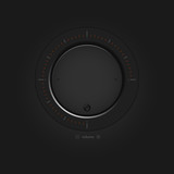 Vector black volume button