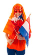 Kings day in Holland in orange