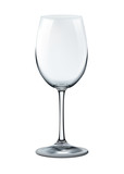 photorealistic empty wine glass isolated