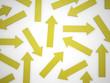 Many yellow arrows