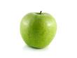 Isolated green apple. Fresh diet fruit.