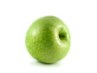 Isolated green apple. Fresh diet fruit.
