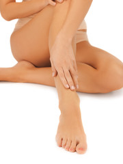 female legs and hand