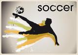fussball – vektor – poster