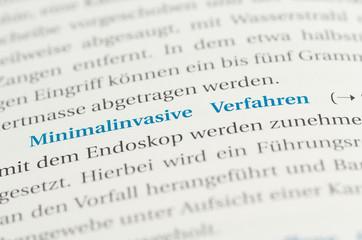 Minimalinvasive Verfahren Beschreibung