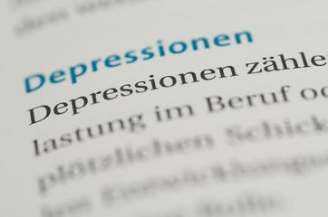 Depressionen Überschrift Definition