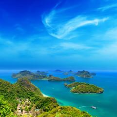 Tropical island nature, Thailand sea archipelago