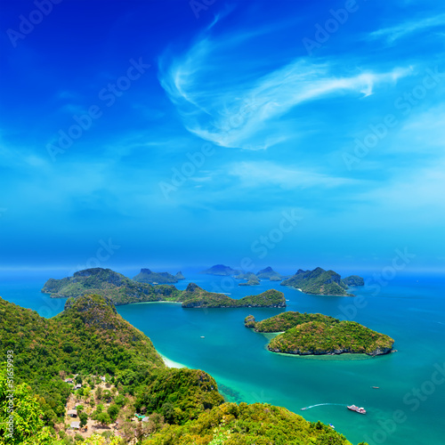 Tropical island nature, Thailand sea archipelago