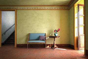 Ambiente tavolino con vaso