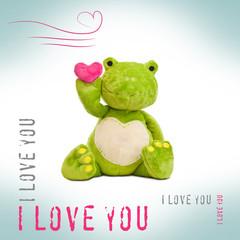 I love you - Frosch mit Herz