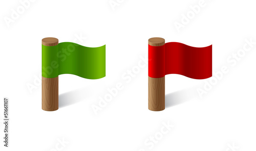 red and green flags