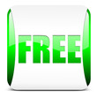 free button, glossy green