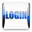 login button, glossy blue