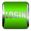 login button, grün