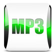 mp3, button glossy green
