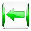 arrow left, button glossy green