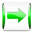 arrow right, button glossy green