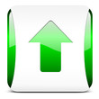 arrow up, button glossy green