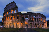 Colosseum at dusk in Rome