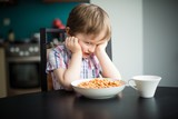 Offended little boy refuses to eat dinner