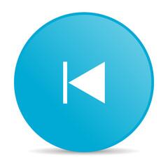 prev blue circle web glossy icon