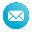 mail blue circle web glossy icon