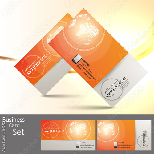 Blue Business Card set, vector format