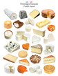 Fromages français - French cheeses