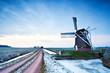 Dutch windmill in dusk