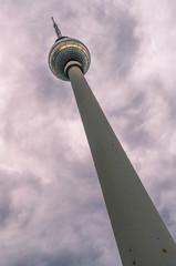 TV Tower (Fernsehturm) in Alexander Platz. Berlin, Germany.