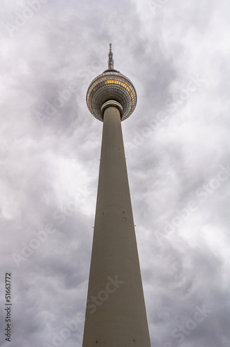 TV Tower (Fernsehturm) in Alexander Platz. Berlin, Germany.