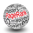 3D ball tag cloud pagerank