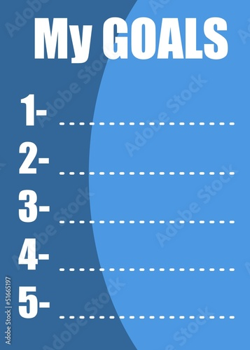 My goals list