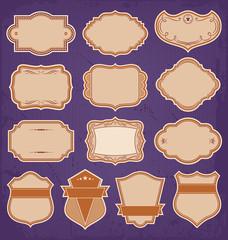 Vintage Frame Labels Set Vector