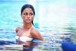 Woman in swimming pool
