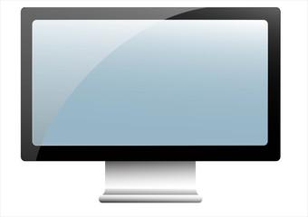 LCD - LED - Plasma tv monitor isolated on white