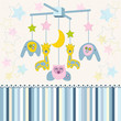 carousel baby for crib vector