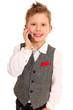 junger Geschäftsmann am Smartphone
