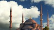 Istanbul at day - blue mosque - time lapse