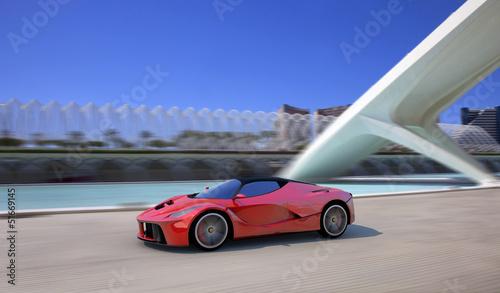 red sportscar in valencia