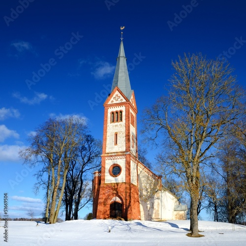 old Lutheran church in Krimulda, Latvia