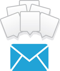 Mail icon with many messages