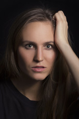 Serious Young Woman Portrait