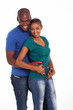 portrait of cute black couple