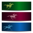Banners with horserace 2