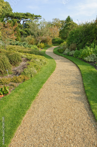 Gravel path in English park