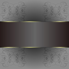 Abstract background with gold banner