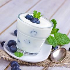 Joghurt mit Blaubeeren