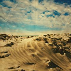 paper sandy beach