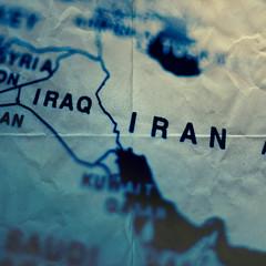 paper map iran